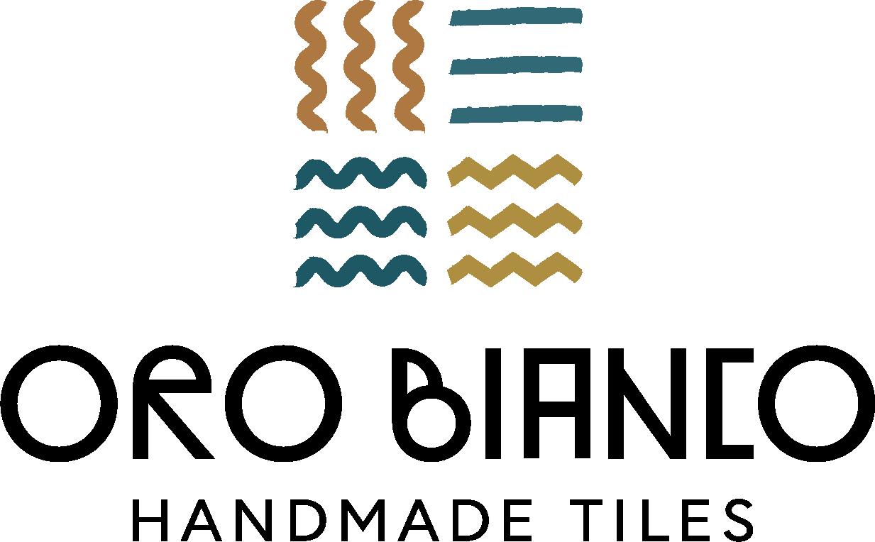ORO BIANCO HANDMADE TILES Logo 4c positiv. Die Datei ist eine Logografik im PNG-Format.