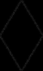 Grundform der Fliese LIMMAT. Das Bild zeigt in einer schwarzen Strich-Grafik die Form der Fliese LIMMAT. Die Datei ist eine Grafik im PNG-Format.
