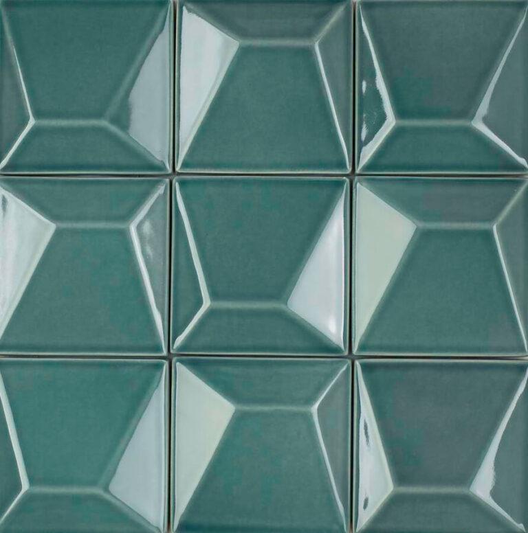 Verbund der Fliese ESPLANADE in der Farbe Turquoise. Das Bild zeigt zusammengesetzte ESPLANADE-Fliesen in einem tuerkisen Farbton. Die Datei ist ein Foto im JPEG-Format.